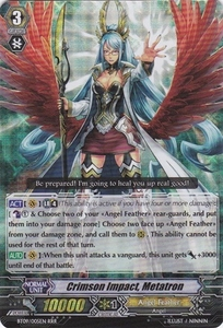 Cardfight Vanguard ENGLISH Clash of the Knights & Dragons Single Card RRR Rare BT09/005 Crimson Impact, Metatron
