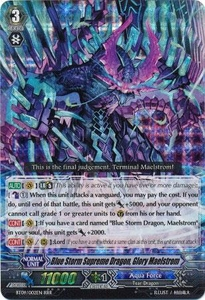 Cardfight Vanguard ENGLISH Clash of the Knights & Dragons Single Card RRR Rare BT09/002 Blue Storm Supreme Dragon, Glory Maelstrom