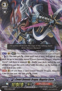 Cardfight Vanguard ENGLISH Clash of the Knights & Dragons Single Card RRR Rare BT09/001 Covert Demonic Dragon, Magatsu Storm