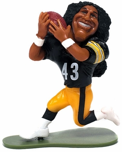 McFarlane Toys NFL Small Pros Series 1 LOOSE Mini Figure Troy Polamalu [Pittsburgh Steelers]