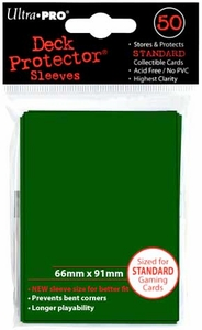 Ultra Pro Card Supplies STANDARD Card Sleeves Green [50 Sleeves]