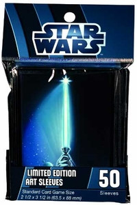 Fantasy Flight Card Supplies STANDARD Card Sleeves Star Wars LightSaber [50 Sleeves]