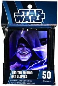 Fantasy Flight Card Supplies STANDARD Card Sleeves Star Wars Force Lightning  [50 Sleeves]