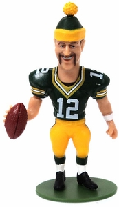 McFarlane Toys NFL Small Pros Series 1 LOOSE Mini Figure Aaron Rodgers [Beanie & Mustache Variant]