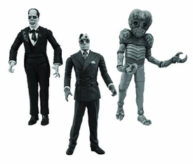 Universal Monsters Black & White Action Figure 3-Pack Metaluna Mutant , Phantom of the Opera & Invisible Man Pre-Order ships April