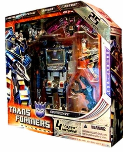 Transformers Universe 2009 SDCC San Diego Comic-Con Exclusive 25th Anniversary Figure Soundwave with Buzzsaw, Laserbeak, Ratbat & Ravage