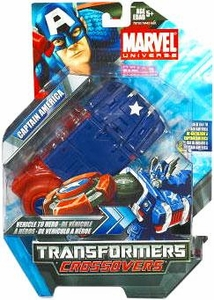 Marvel Transformers Crossovers Hybrid Action Figure Captain America