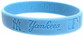 Official MLB Team Rubber Bracelet Girls Style New York Yankees [Blue]