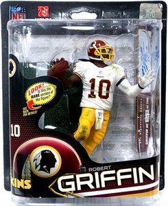 McFarlane Toys NFL Sports Picks Series 32 Action Figure Robert Griffin III (Washington Redskins) White Jersey AUTOGRAPHED Chase Variant Only 100 Made!