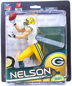 McFarlane Toys NFL Sports Picks Series 32 Action Figure Jordy Nelson (Green Bay Packers) White Jersey Collector Level Only 500 Made!