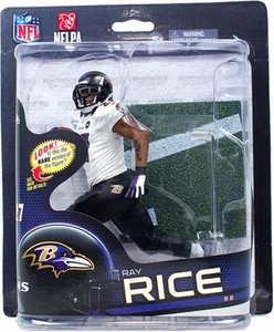 McFarlane Toys NFL Sports Picks Series 32 Action Figure Ray Rice (Baltimore Ravens) White Jersey Collector Level Only 2,000 Made!