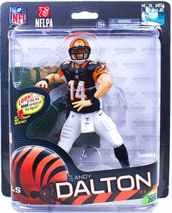 McFarlane Toys NFL Sports Picks Series 32 Action Figure Andy Dalton (Cincinnati Bengals) White Pants