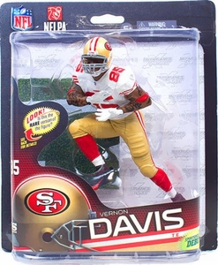 McFarlane Toys NFL Sports Picks Series 32 Action Figure Vernon Davis (San Francisco 49ers) White Jersey Collector Level