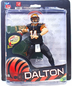 McFarlane Toys NFL Sports Picks Series 32 Action Figure Andy Dalton (Cincinnati Bengals) Black Pants Collector Level Only 1,000 Made!