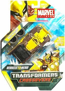 Marvel Transformers Crossovers Hybrid Action Figure Wolverine [Yellow & Brown Costume]