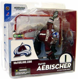 McFarlane Toys NHL Sports Picks Series 10 Action Figure David Aebischer (Colorado Avalanche) Red Jersey BLOWOUT SALE!