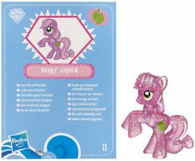 My Little Pony Friendship is Magic 2 Inch PVC Figure Series 3 Glitter Berry Green [Blue Card]