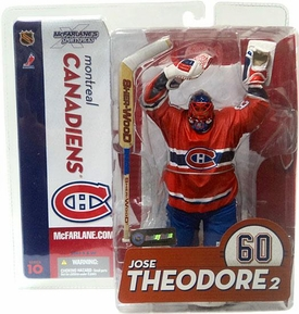 McFarlane Toys NHL Sports Picks Series 10 Action Figure Jose Theodore (Montreal Canadiens) Red Jersey