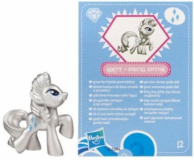 My Little Pony Friendship is Magic 2 Inch PVC CHASE Figure Series 3 Metallic Rarity [Blue Card]