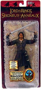 Lord of the Rings The Two Towers Super Poseable Helm's Deep Aragorn Bilingual Action Figure