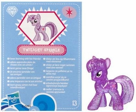 My Little Pony Friendship is Magic 2 Inch PVC Figure Series 3 Glitter Twilight Sparkle [Blue Card]