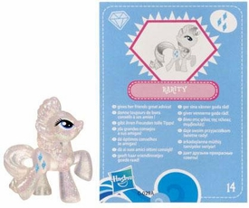 My Little Pony Friendship is Magic 2 Inch PVC Figure Series 3 Glitter Rarity [Blue Card]