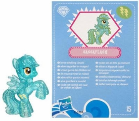 My Little Pony Friendship is Magic 2 Inch PVC Figure Series 3 Glitter Sassaflash [Blue Card]