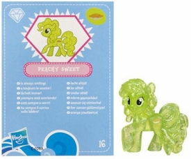 My Little Pony Friendship is Magic 2 Inch PVC Figure Series 3 Glitter Peachy Sweet [Blue Card]