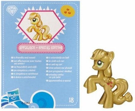 My Little Pony Friendship is Magic 2 Inch PVC CHASE Figure Series 3 Metallic Applejack [Blue Card]