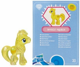 My Little Pony Friendship is Magic 2 Inch PVC Figure Series 3 Glitter Mosely Orange [Blue Card]
