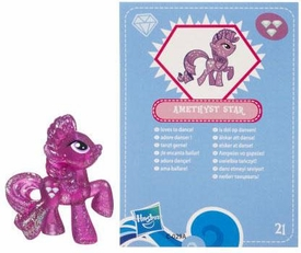 My Little Pony Friendship is Magic 2 Inch PVC Figure Series 3 Glitter Amethyst Star [Blue Card]