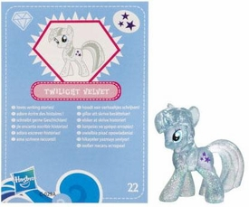 My Little Pony Friendship is Magic 2 Inch PVC Figure Series 3 Glitter Twilight Velvet [Blue Card]