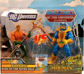 DC Universe & Masters of the Universe Classics Exclusive Action Figure 2-Pack Aquaman Vs. Mer-Man