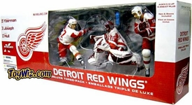 McFarlane Toys NHL Sports Picks Exclusive Action Figure 3-Pack Steve Yzerman, Curtis Joseph & Brett Hull (Detroit Red Wings) BLOWOUT SALE!
