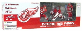 McFarlane Toys NHL Sports Picks Exclusive Action Figure 3-Pack Steve Yzerman, Curtis Joseph & Brett Hull (Detroit Red Wings) Red Jersey Variants