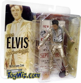 McFarlane Toys Action Figure Elvis Presley #4 '56 Year in Gold Outfit