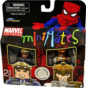 Marvel MiniMates Exclusive Mini Figure 2-Pack Cannonball & Shatterstar