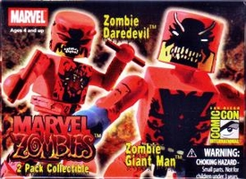 Marvel MiniMates SDCC Marvel Zombies Exclusive Mini Figure 2-Pack Zombie Giant Man & Daredevil