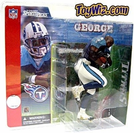 McFarlane Toys NFL Sports Picks Series 1 Action Figure Eddie George (Tennessee Titans) Blue Jersey No Helmet Variant BLOWOUT SALE!