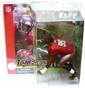 McFarlane Toys NFL Sports Picks Series 1 Action Figure Warren Sapp (Tampa Bay Buccaneers) Red Jersey No Helmet Variant
