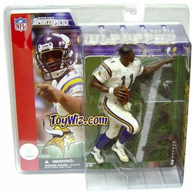 McFarlane Toys NFL Sports Picks Series 2 Action Figure Daunte Culpepper (Minnesota Vikings) White Jersey No Helmet Variant