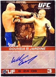 Topps UFC Ultimate Fighting Championship Round 1 Autograph Card Wilson Gouveia