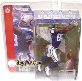 McFarlane Toys NFL Sports Picks Series 2 Action Figure Marvin Harrison (Indianapolis Colts) Blue Jersey No Helmet Variant