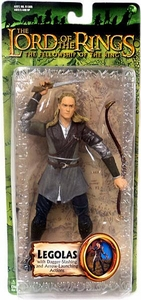 Lord of the Rings Trilogy Fellowship of the Ring Action Figure Series 2 Legolas with Dagger-Slashing and Arrow-Launching Action Damaged Package, Mint Contents!
