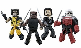 Marvel Minimates Exclusive Mini Figure 4-Pack Curse of the Mutants [Blade, Wolverine, Jubilee & Dracula]