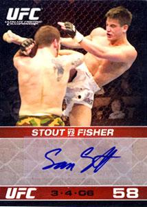 Topps UFC Ultimate Fighting Championship Single Card Round 1 Autograph Card Sam Stout