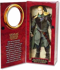 Lord of the Rings Two Towers 12 Inch Figure Legolas Package Shows Shelf-Wear & Nose Paint is Worn on Plastic