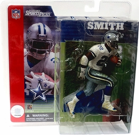 McFarlane Toys NFL Sports Picks Series 1 Action Figure Emmitt Smith (Dallas Cowboys) White Jersey With Grass Stains