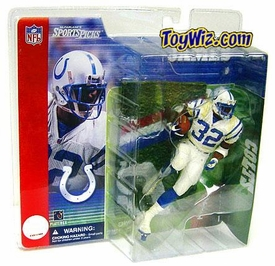 McFarlane Toys NFL Sports Picks Series 1 Action Figure Edgerrin James (Indianapolis Colts) White Jersey