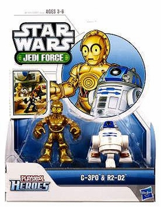 Star Wars 2011 Playskool Jedi Force Mini Figure 2-Pack C-3PO & R2-D2